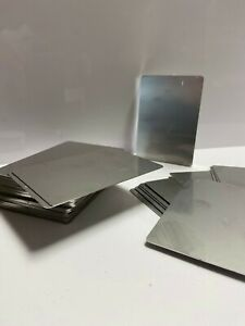 5 x Stainless Steel Stamping Embossing Blank Cards Stamping/Punching Card 0.5mm