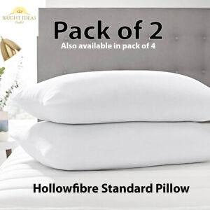 Luxury Pillows Ultra Loft Jumbo Super Bounce Back Pillows - Pack of 1, 2 & 4