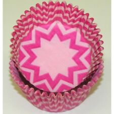 50pc Chevron Design - Hot Pink / Pink Standard Size Cupcake Baking Cups Liner...