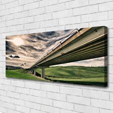 Leinwand-Bilder Wandbild Canvas Kunstdruck 125x50 Autobahn Brücke Tal
