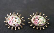Vintage Italian Micro Mosaic Earrings