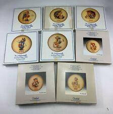 Rd3B Lot of 8 M J Hummel Annual Plates 1980's Goebel Collectors Club