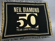 Neil Diamond 50th Anniversary VIP Merchandise Blanket / Flag / Throw Large NEW