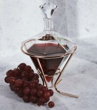 SOIREE DIAMOND DECANTER with COPPER STAND Glass Whiskey Brandy Spirits