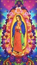 Our Lady of Guadalupe large fabric panel, religious Christian Virgin Mary cotton