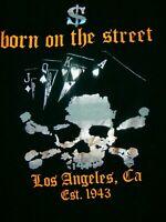SMET BORN ON THE STREET LA POLO HIP HOP RAP STREETWEAR SHIRT MEN L est. 1943