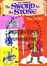 Vintage Reprint - 1963 - The Sword In The Stone Punch-Out Book - Reproduction