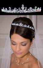 2.5cm Hoch Reißen Geformt Hochzeit Braut Haarschmuck Haarreif Diademe Tiara