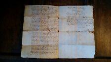 1616 ORIGINAL ANTIQUE MANUSCRIPT LOUIS XIII DECLARATION DU ROI PRINCE DE CONDE