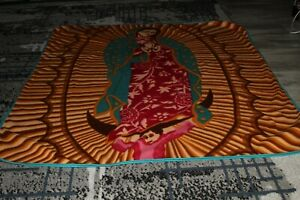 """Our Lady of Guadalupe Fleece Throw Blanket 51""""X57"""""""