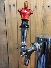 IRON MAN Tap Handle Beer Keg Bust Marvel Comics Avengers Kegerator Pull Knob