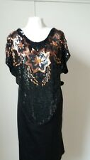 Sequin Butterfly top black and copper gypsy wedding/Irish traveller party