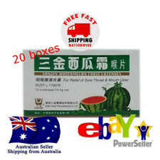 20x12 tabs Sanjin Watermelon Frost Lozenges 14.4g Relief Sore Throat Mouth Ulcer