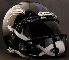 *Custom* Baltimore Ravens Nfl Riddell Speed Authentic Football Helmet