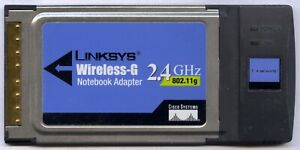 Linksys WPC54G Wireless-G 2.4GHz 802.11g  PCMCIA Notebook Adapter Card (used)