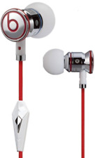 New OEM  Genuine Monster Beats  Dr. Dre iBeats Headphones  White  With Pouch