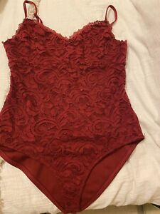 Valleygirl Lace Red Bodysuit Size 10