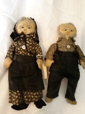 Pair Of Handmade German Baptist Dolls, Sw Virginia