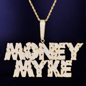 """Custom Made Baguette Letter Pendant 18""""- 30"""" Chain Necklace Rope Hip Hop Iced"""