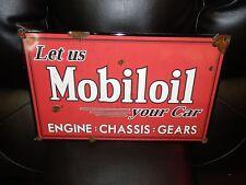 Antique style porcelain look gargoyle mobil oil dealer sales gas station sign