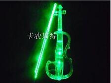 Crystal Acrylic Violin Green Led Electronic Violin Electro-acoustic Violin 4/4