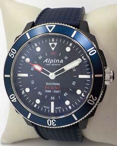 ALPINA SEASTRONG HOROLOGICAL BLUE DIAL MEN'S SMART WATCH  AL-282LNN4V6 $595.00