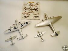 4 x 1950's DINKY BRITISH AIRPLANES-YORK-ARMSTRONG WHITWORTH-TEMPEST II -METEOR