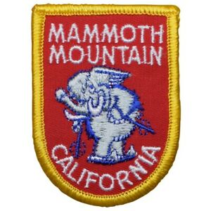 "Vintage Mammoth Mountain Patch - California, Ski, Snowboard 2.75"" (Sew on)"