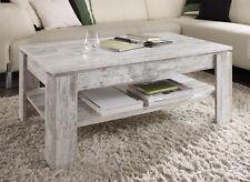 Couchtisch Shabby Vintage Wohnzimmer Tisch Pinie weiß Beistell Holztisch 110 cm