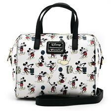 Loungefly Disney Mickey Mouse Poses Faux Leather Duffel Tote Bag Purse Wdtb1415