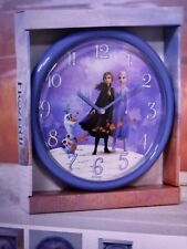 Disney Frozen 2 Olaf Elsa Anna Quartz Disney Purple Wall Clock