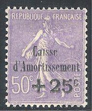 France 1931 Sinking Fund pale-violet 50c + 25c mint SG495