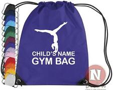 Personalised Gymnastics kit bag. Drawstring gym PE school - add child's name