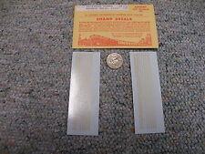 "Champ decals HO Alphabet  Numbers LZ-70  Railroad Roman bronze gold 1/16""   H65"
