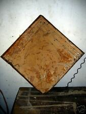 SHABBY Architectural Antique Old Tin Ceiling Tile   1503