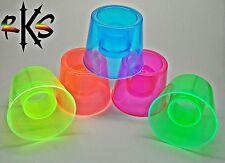 Neon Hurricane Jager Bomb Shot Glass- UV Reactive Power Bomber Shooter Cups