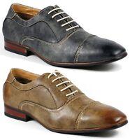 Ferro Aldo Mens Lace Up Cap Toe Oxford Dress Shoes w/ Leather lining MFA-19285