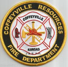 "Coffeyville Resources  Fire Dept., KS  (4"" round size)  fire patch"