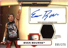 WWE Evan Bourne Topps Platinum 2010 Silver Autograph Relic Card SN 95 of 275