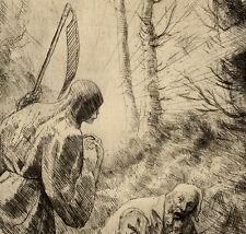 Alphonse Legros La Mort du Bucheron Faucheuse - Eau Forte Originale XIXème