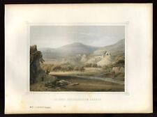LES JARDINS FERMES DE SALOMON  lithographie 1855