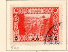 Turkey 1917 Early Issue Fine Used 5p. Surcharged 167360