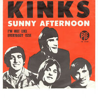 "THE KINKS ~ Sunny Afternoon ~ 1966 Dutch Pye label 2-track 7"" vinyl single ~ p/s"