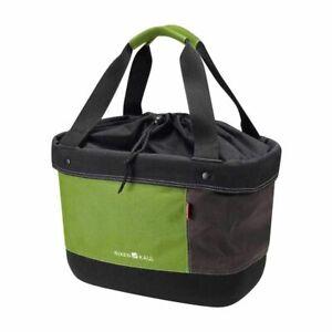 Basket Front Canvas KLICKFIX Shopper Alingo Vert-Marron Binding On Hanger 17l