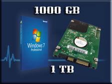 Lot 1x 1000GB SATA 1TB Hard Drive Wins7 Laptop COMPAQ CQ40 CQ45 CQ50 CQ60 CQ70.