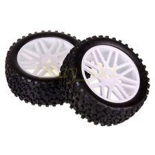 2x 1/10 HSP Off-road Buggy 06101 Front Wheel Rim Tyre,Tires Insert Sponge 66011