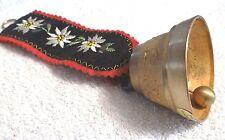 Vintage Swedish Sleigh Bell felt hand stitched hanger