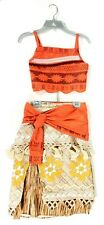 Disney Store Moana Costume GIRLS SIZE 7/8 Skirt Top Outfit Halloween Dress Up