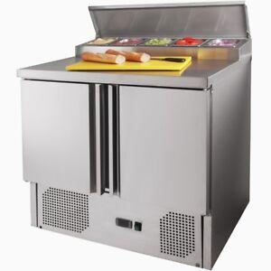 Pizzakühltisch Pizzatisch Gastro Kühltisch Saladette m. Deckel - ZORRO ZPS 200