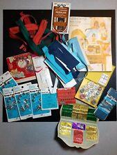 Vintage Sewing Supply Lot Snaps Binding Bias Tape Zippers Needles Seamstress